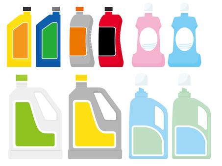 Detergent bottle - Take off the lid