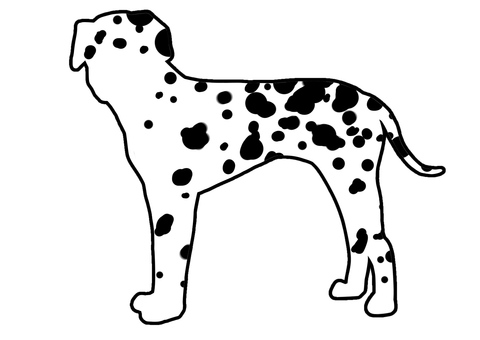 Dalmatian silhouette