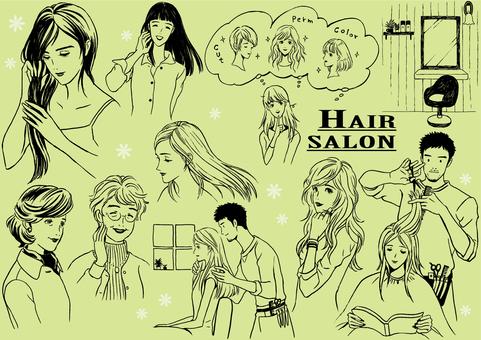 Beauty salon drawing