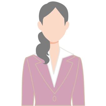 Suit female icon beauty secretary