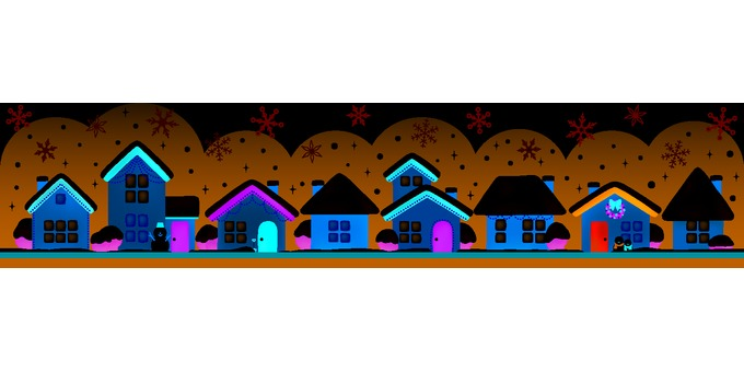 House line (winter · Christmas)
