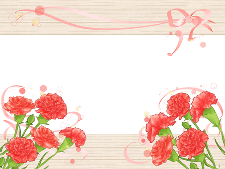 Wood grain frame (carnation) 04