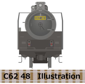 C62 48号機正面2