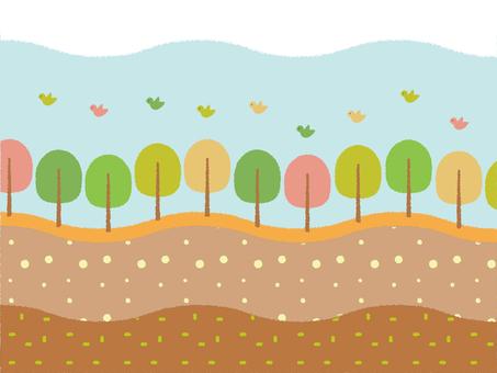 Wood and bird landscape wallpaper 1