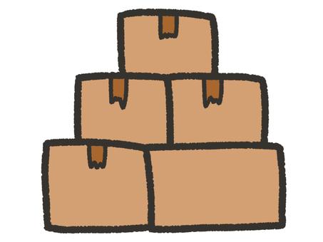 Cute pile of cardboard
