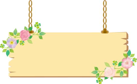 Plant hanger sign