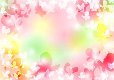 Spring color butterfly background