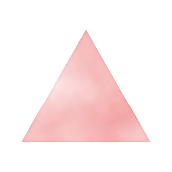 Hand painted watercolor triangle Red / Red / Pink