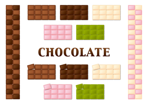 Assorted board chocolate