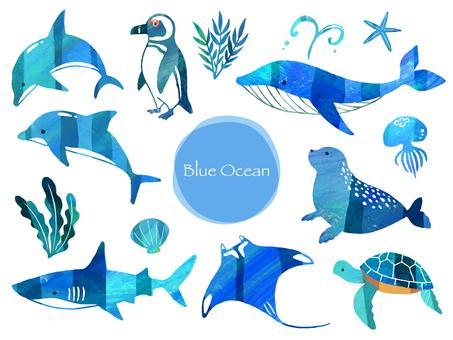 青い海の生き物