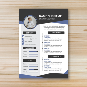 Business template resume 6