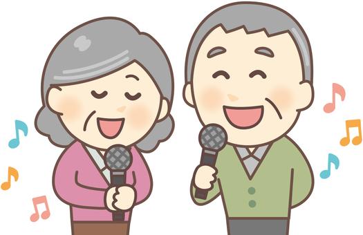 Karaoke _ Elderly people 01
