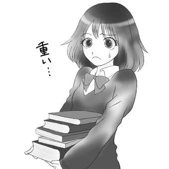 The book is heavy ... (black and white)