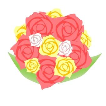 Dark pink rose bouquet
