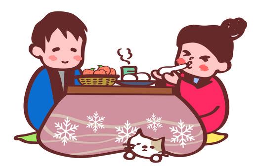 Cool with a kotatsu