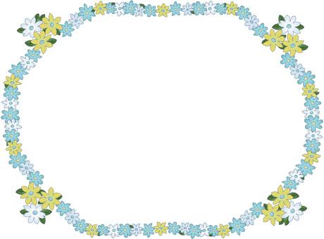 Antique flower decorative frame