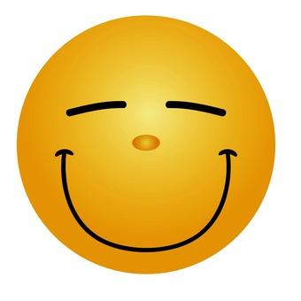 Emoticon smiling gently