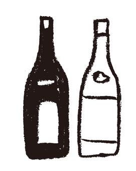 Japanese wine bottle