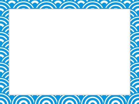 Japanese style pattern frame 07