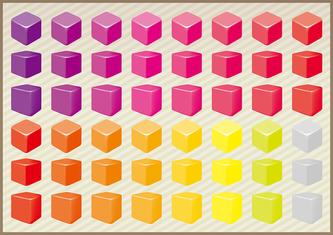 Cube warm color