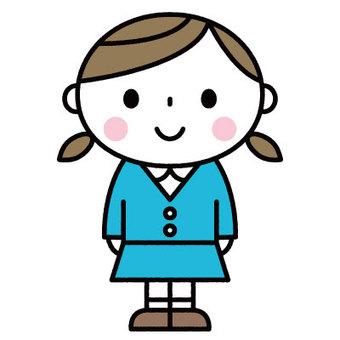 귀여운 소녀 / 원아 / 보육 / 유치원