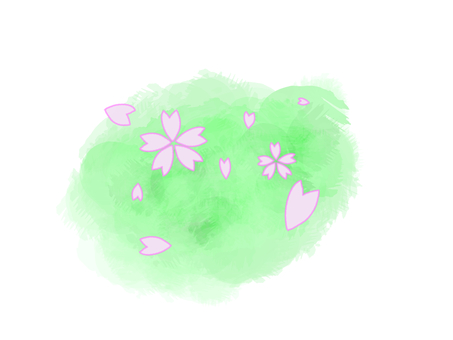 Cherry blossom pastel color
