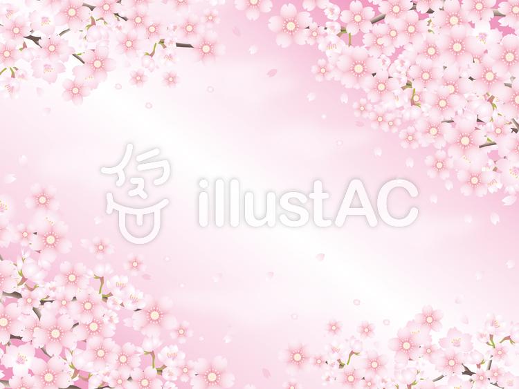 桜色の花びらの背景その2のイラスト