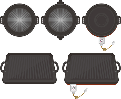 Genghis Khan hot pot and barbecue iron plate