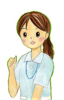 護士插圖水彩