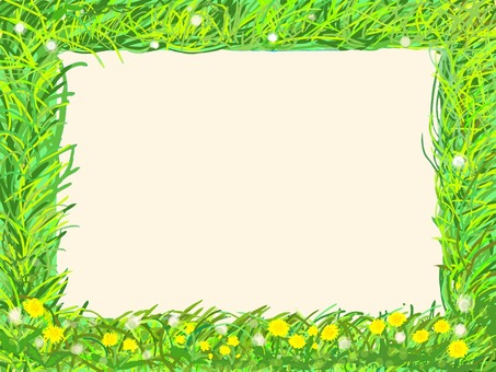 Wild grass frame (dandelion)