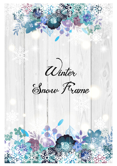 Flower decoration frame 25 Winter