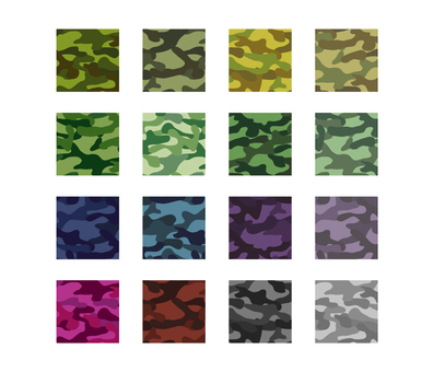 Camouflage pattern_set example