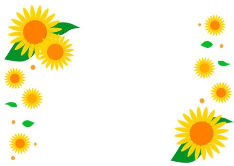 Sunflower frame (Himawari) frame