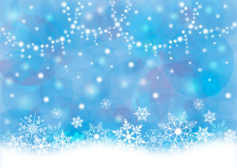 Snow crystal _ pastel _ blue background 1507