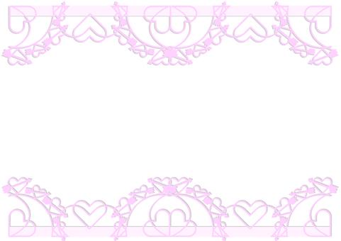 Simple pink heart frame frame