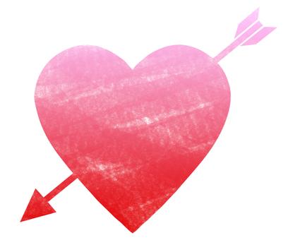 Handwriting style heart