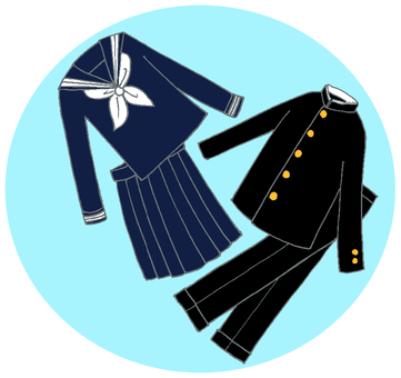 School uniform in school uniform