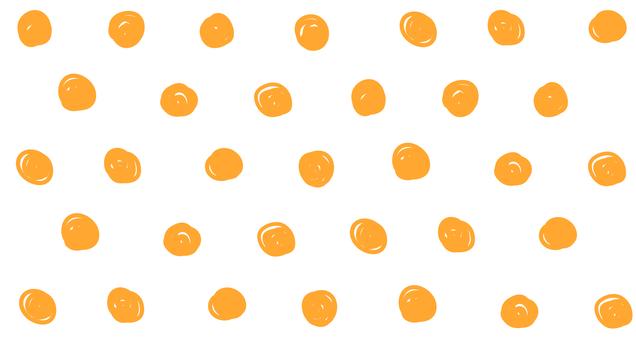 Hand drawn dots (Orange)