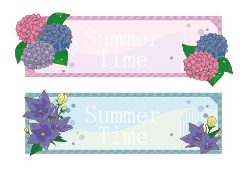 여름 꽃 프레임 01