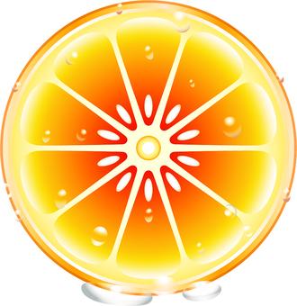 Round sliced oranges 3