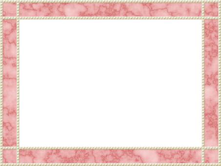 裝飾藝術粉紅色大理石畫框珍珠