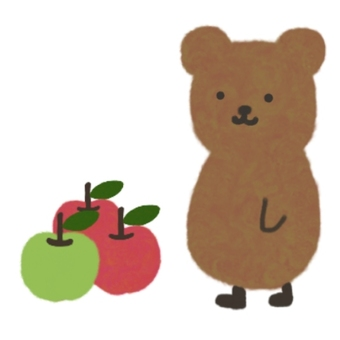 Apple and bear