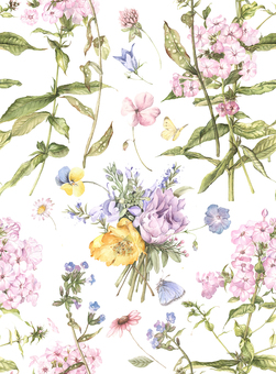 One unit of background 2 - flowers and small bouquet