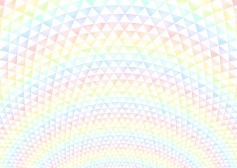 虹色三角模様背景
