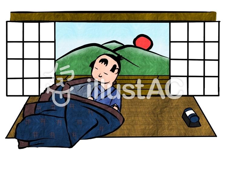 昔の男の子朝起きるイラスト No 1458722無料イラストなら