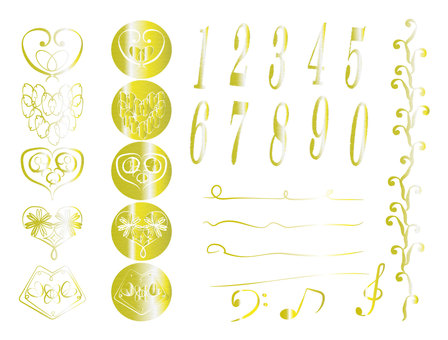 Gorgeous icon set (gold)