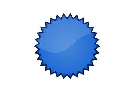 炸彈圖標(藍色)