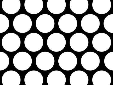 Large dot B & W