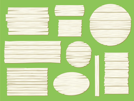 Wooden signboard [white]