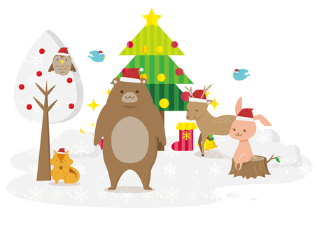 Forest animals and Christmas